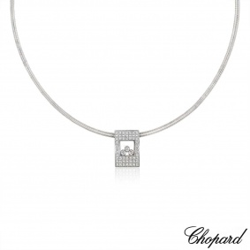 Chopard White Gold Happy Diamonds Necklace